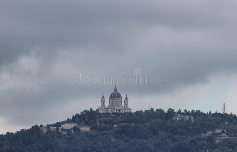 Basílica Superga Turin, Itália imagens de stock