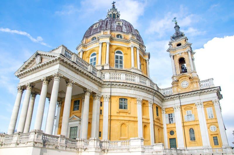 Basílica Turin Piedmont Italia de Superga imagem de stock