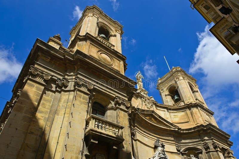 Basílica, Vallettta, Malta imagens de stock royalty free
