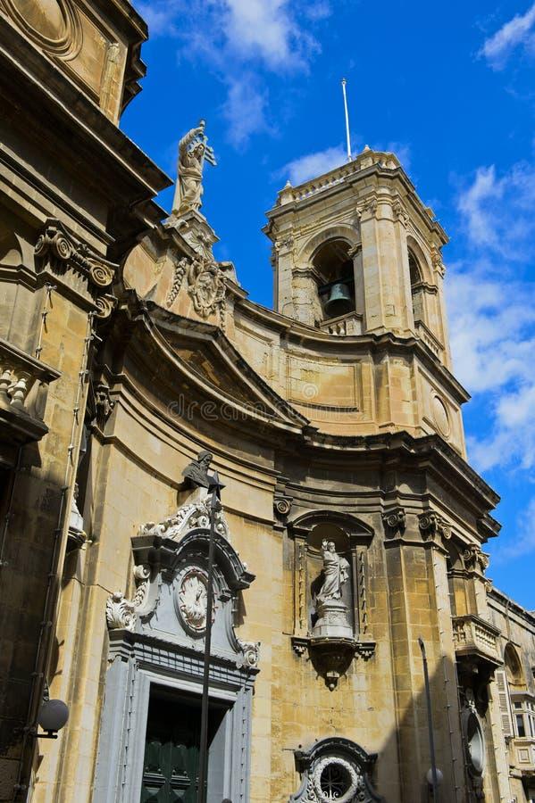 Basílica, Vallettta, Malta imagens de stock
