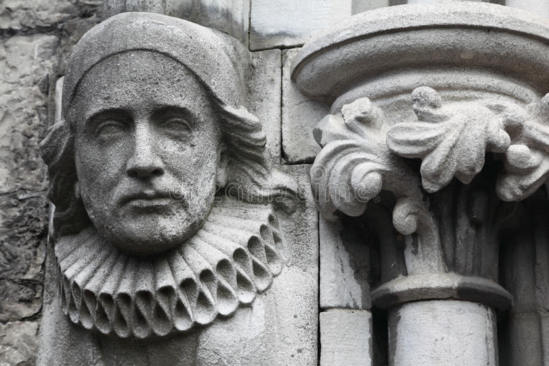 bas基督教会做老替补石头 库存图片