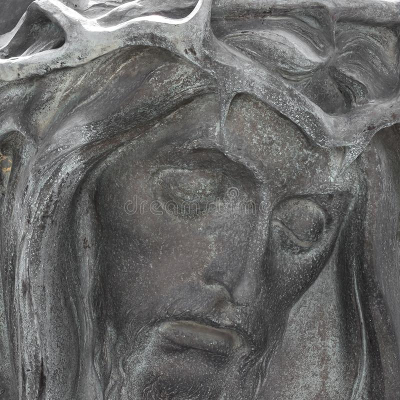 Bas-ανακούφιση χαλκού Χριστού στοκ φωτογραφίες με δικαίωμα ελεύθερης χρήσης