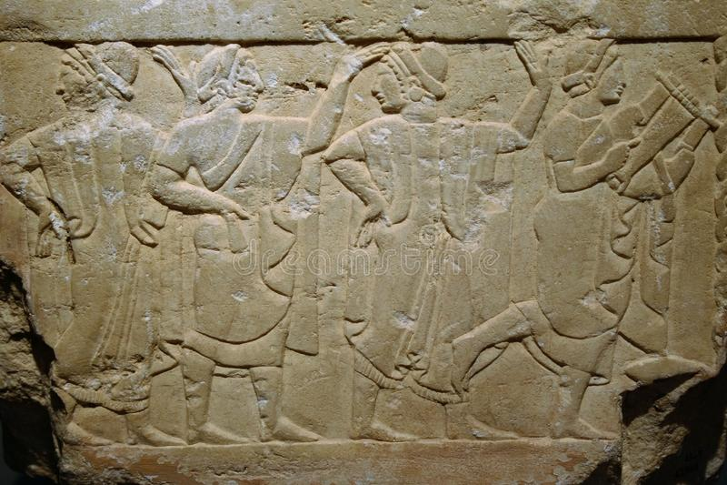 Bas-ανακούφιση Etruscan στοκ φωτογραφία με δικαίωμα ελεύθερης χρήσης