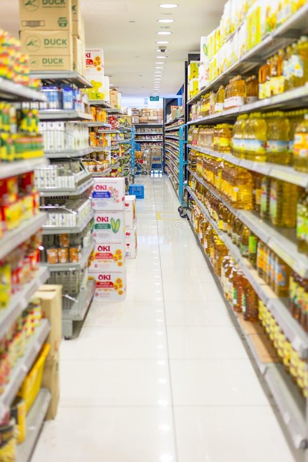 Bas-côté de supermarché photos stock