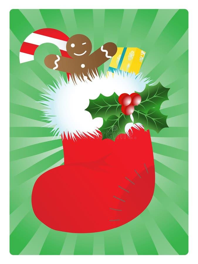 Bas de Noël illustration libre de droits