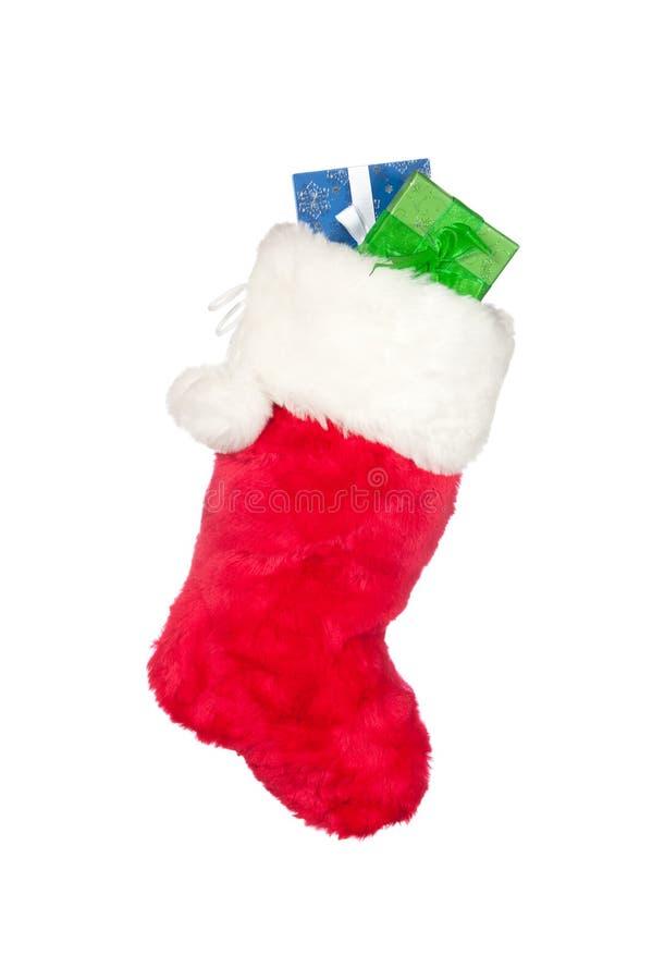 Bas de Noël avec des présents photo libre de droits