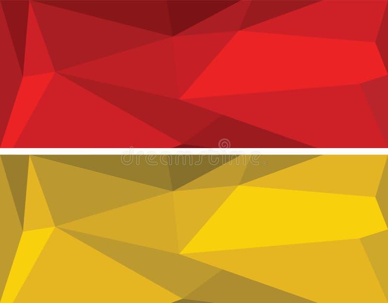 Bas ensemble géométrique polygonal de vecteur photos libres de droits