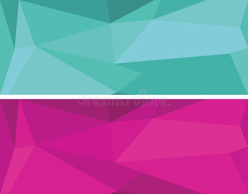 Bas ensemble géométrique polygonal de vecteur image libre de droits
