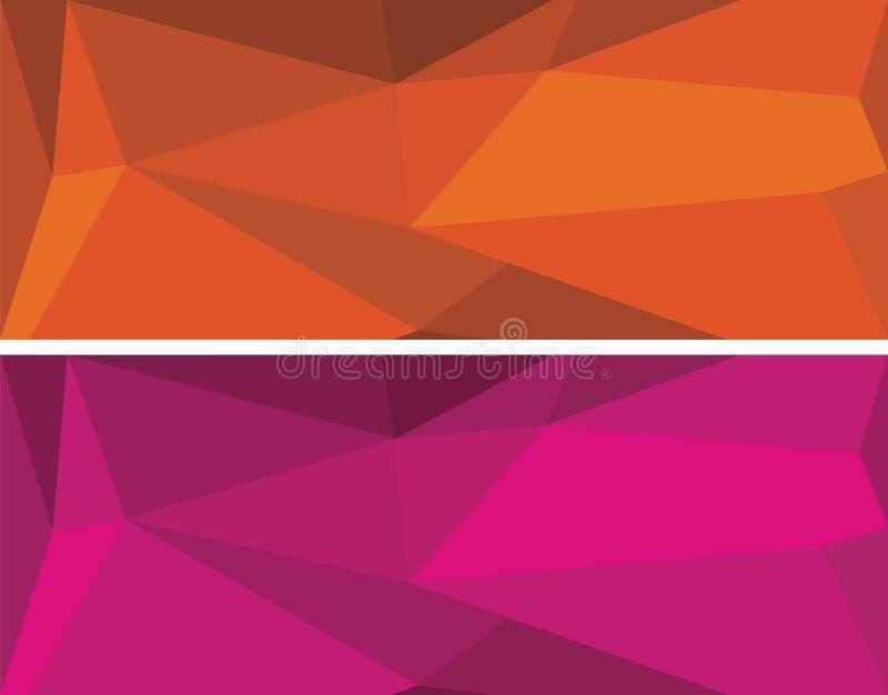 Bas ensemble géométrique polygonal de vecteur photographie stock libre de droits