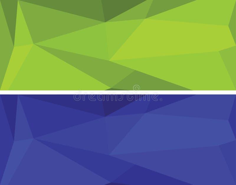Bas ensemble géométrique polygonal de vecteur photo stock