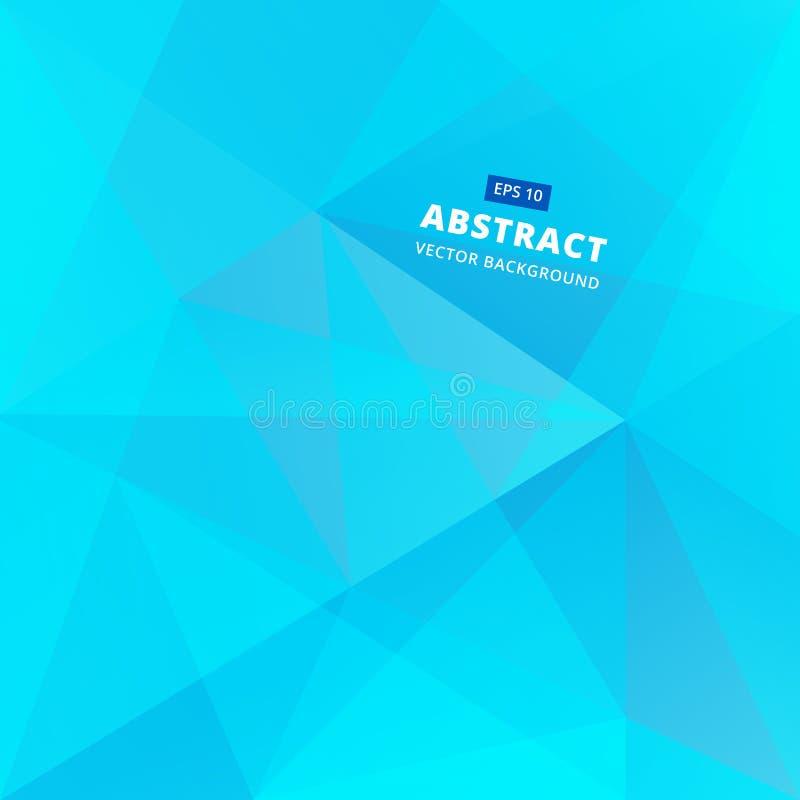 Bas fond bleu géométrique d'abrégé sur polygone, illustrat de vecteur illustration libre de droits