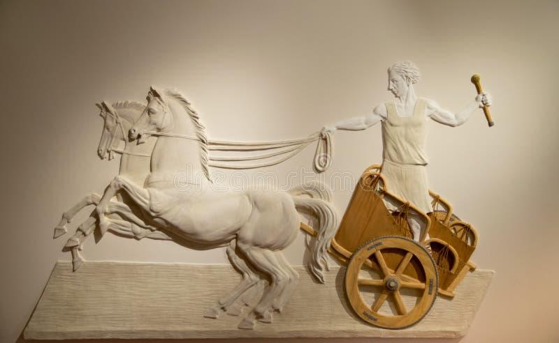 Bas-hulp van Roman Centurion in de baden van Diocletian in Rome royalty-vrije stock afbeeldingen