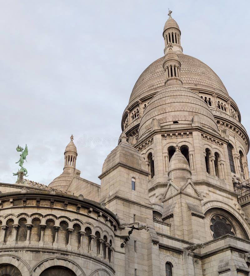Bas?lica do cora??o sagrado de Paris imagem de stock royalty free