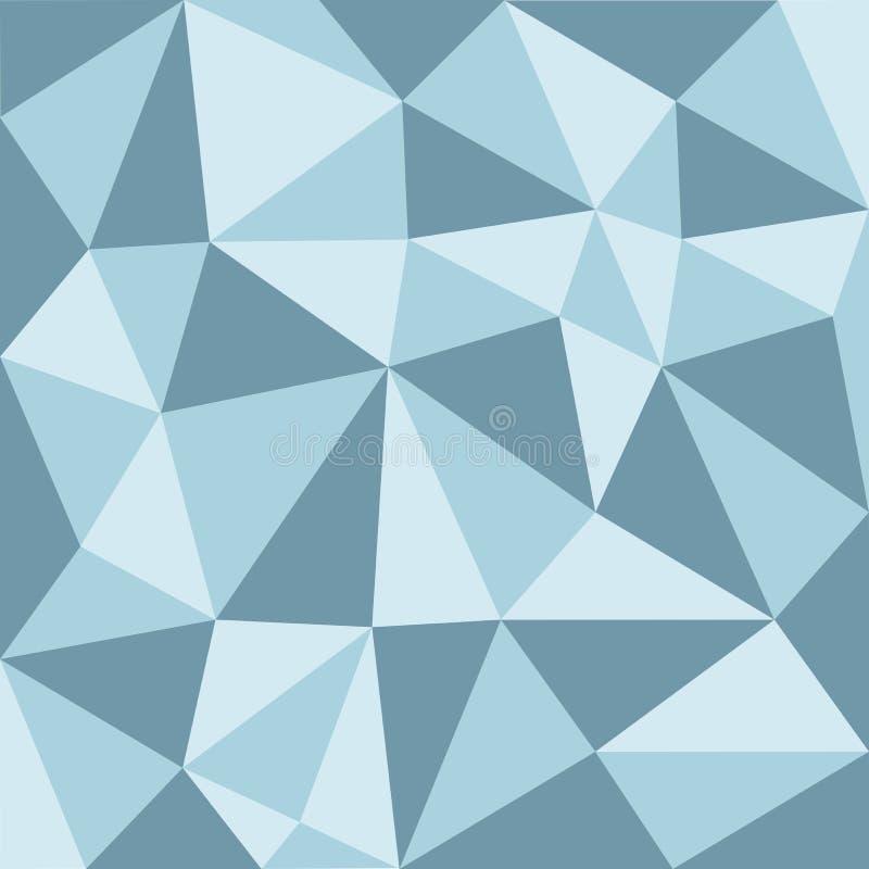 Bas modèle de polygone de ton bleu illustration libre de droits