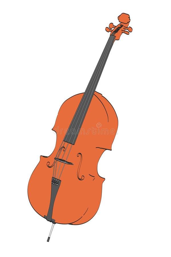 Bas- musikinstrument stock illustrationer