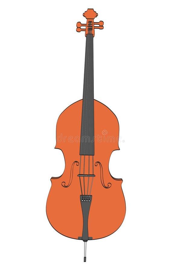 Bas muzikaal instrument vector illustratie