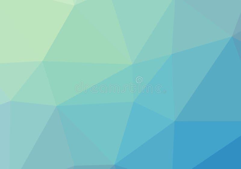 Bas poly cristal coloré de modèle de gradient de couleur de fond de triangle de bleu de ciel, illustration de couleur plate de co illustration de vecteur
