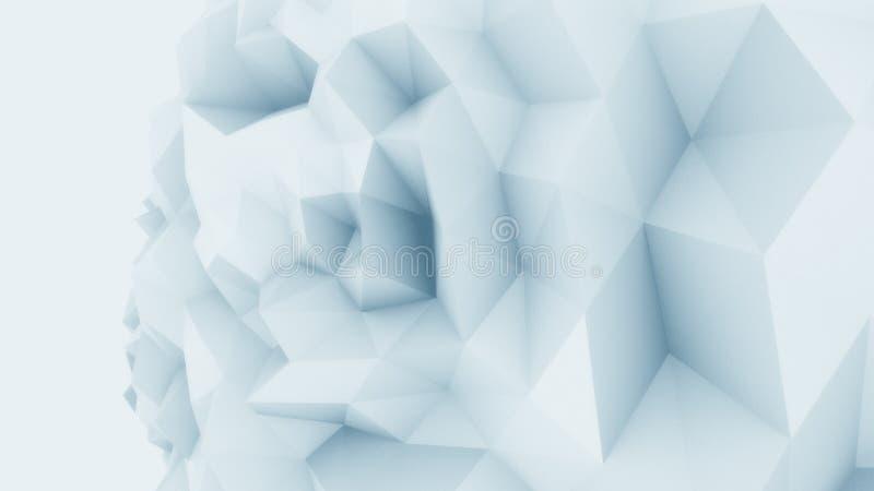 Bas poly fond énervé bleu de sphère pour des rapports et des présentations modernes rendu 3d photographie stock libre de droits