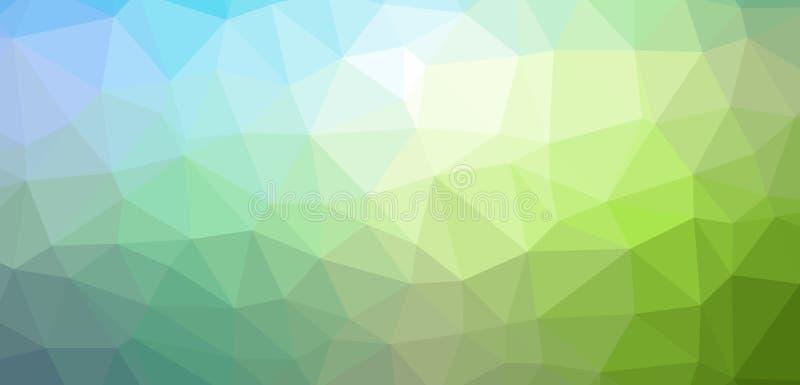 Bas poly fond abstrait avec les polygones triangulaires colorés illustration de vecteur