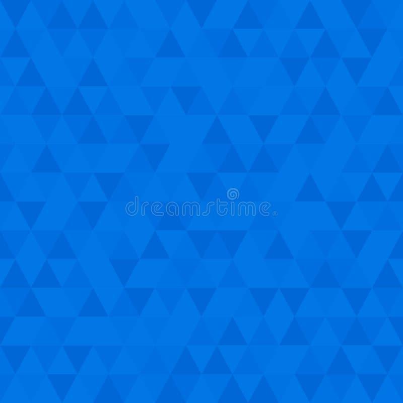 Bas poly fond bleu, modèle sans couture d'abrégé sur triangulaire renversant mosaïque illustration stock