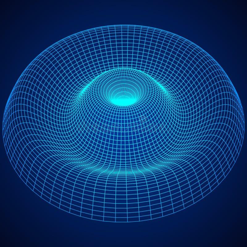 Bas poly fond de maille de wireframe de vague ou d'ondulation illustration stock