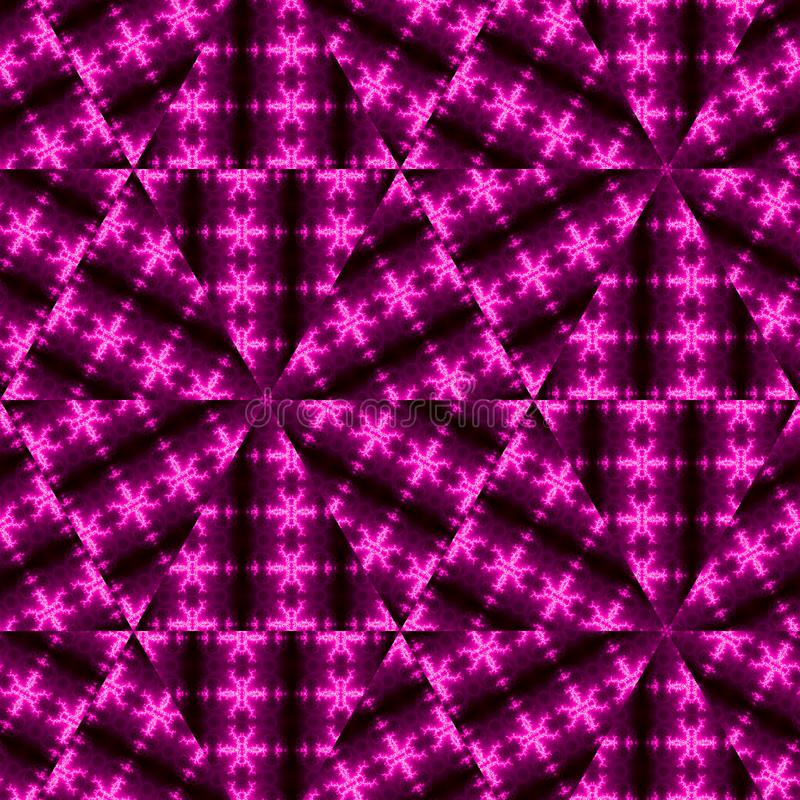Bas-poly fond de pointe géométrique moderne triangulaire de résumé dans le rose et pourpre sur le fond foncé photo libre de droits