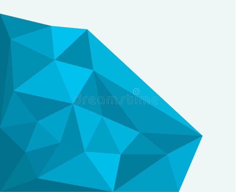 Bas poly fond de roche bleue illustration libre de droits