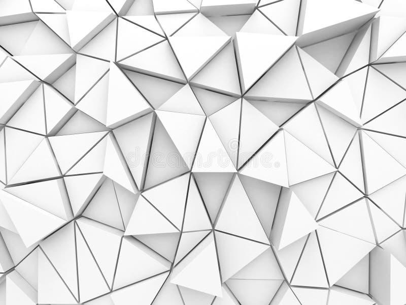 Bas poly fond de triangle blanche architecturale abstraite illustration libre de droits