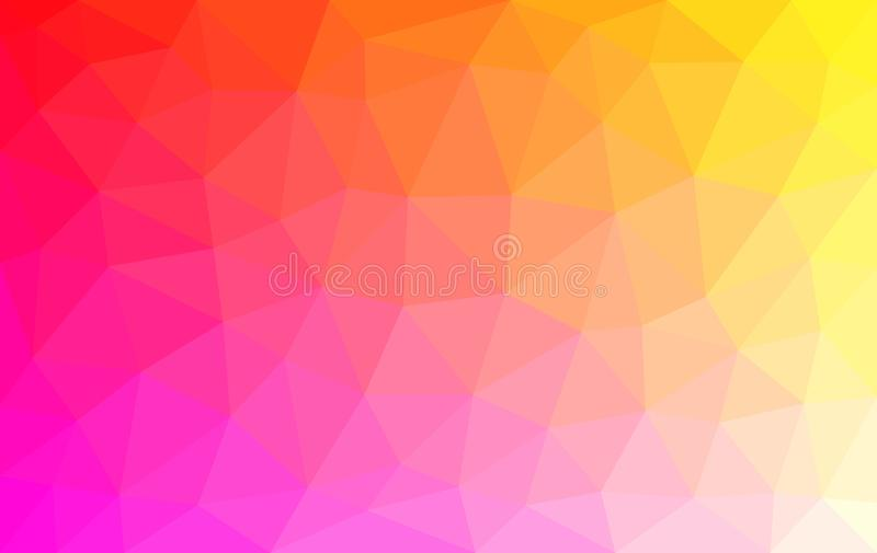 Bas poly fond multicolore clair, texture en cristal abstraite illustration de vecteur