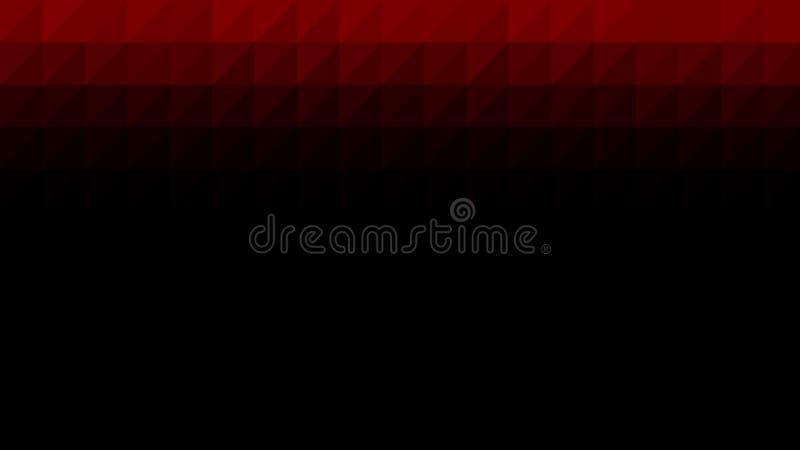 Bas poly fond noir rouge de vecteur illustration stock