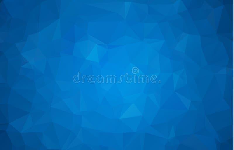 Bas poly fond triangulaire fripé géométrique bleu-foncé multicolore abstrait de graphique d'illustration de gradient de style Pol illustration de vecteur