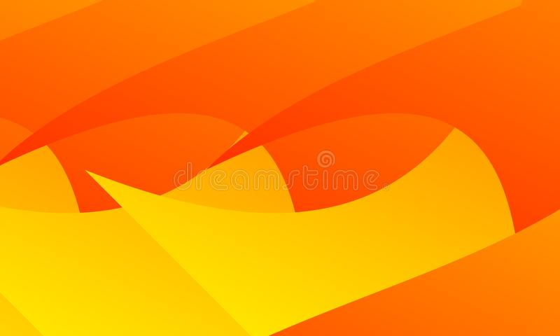 Bas poly fond triangulaire frip? g?om?trique abstrait orange de graphique d'illustration de vecteur de style Carte, couleur illustration de vecteur