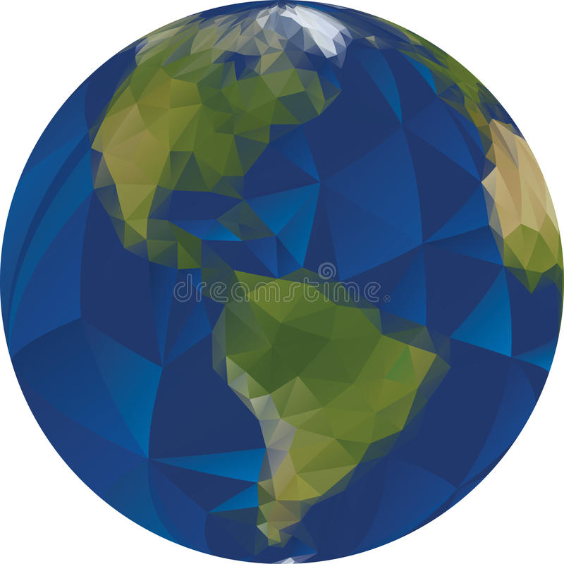 Bas poly globe du monde illustration libre de droits