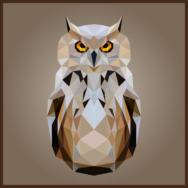 Bas poly hibou illustration de vecteur