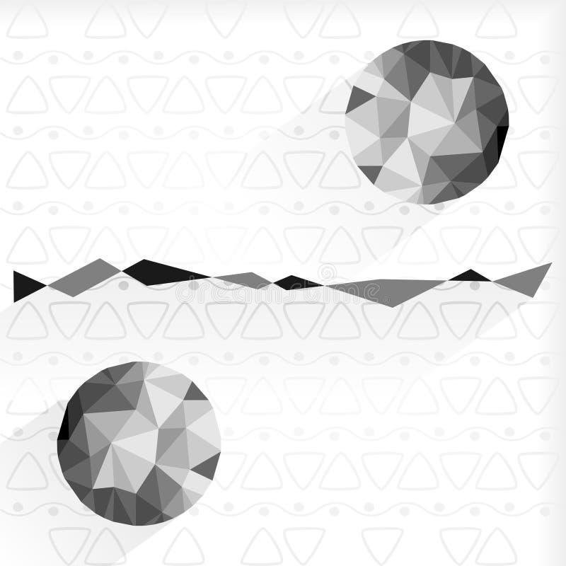 Bas poly ligne et cercles illustration stock
