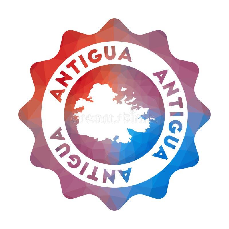 Bas poly logo de l'Antigua illustration stock