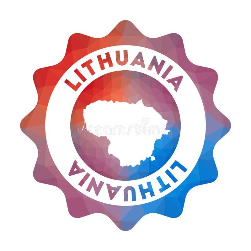 Bas poly logo de la Lithuanie illustration stock