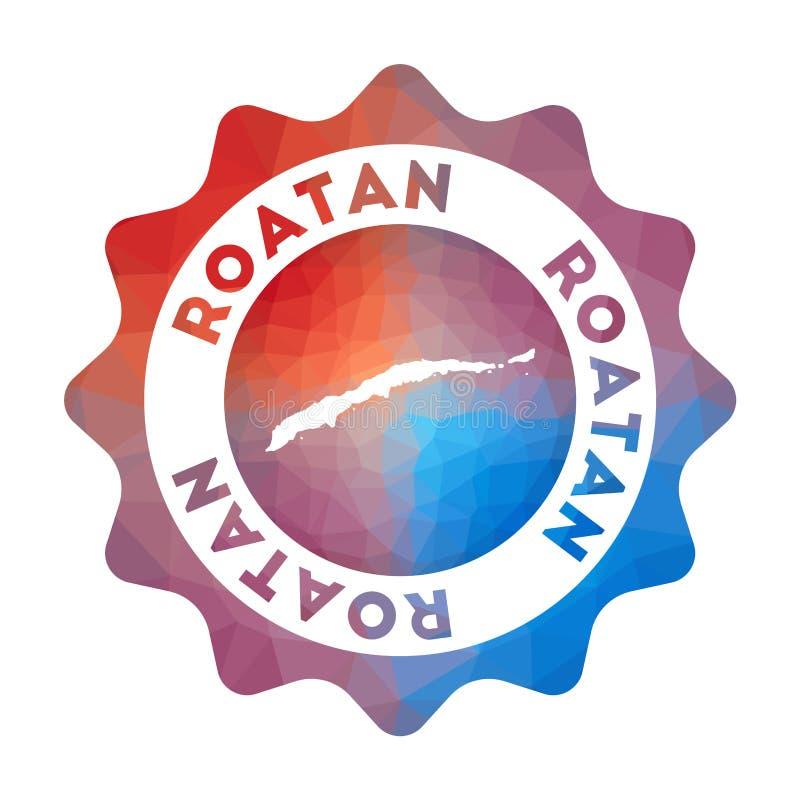 Bas poly logo de Roatan illustration libre de droits