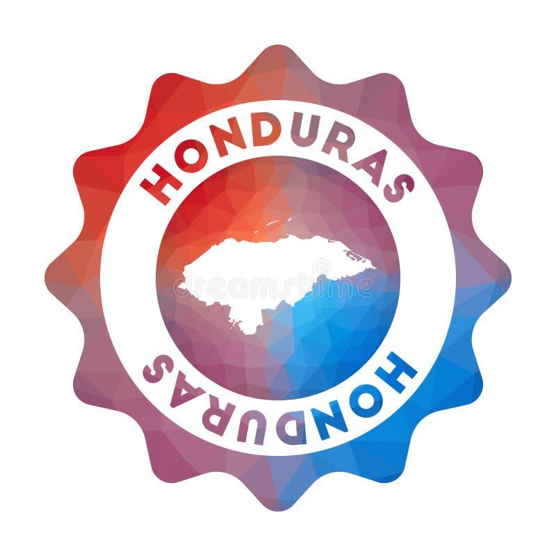 Bas poly logo du Honduras illustration stock