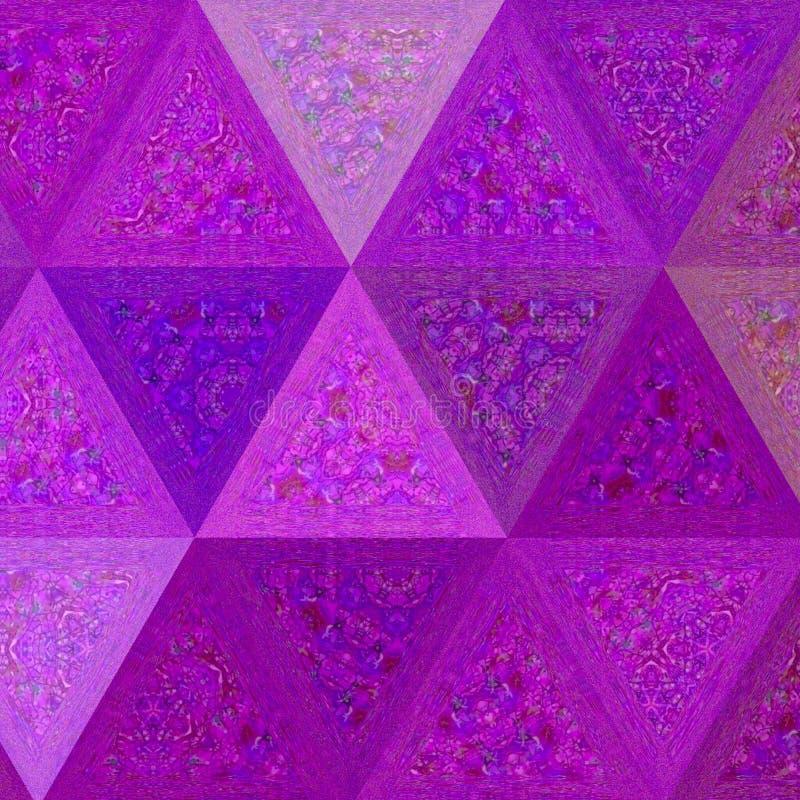 Bas poly modèle de triangle polygonale irrégulière de fond - la couleur pourpre de l'ultraviolet et de lavande effectuent le verr illustration de vecteur