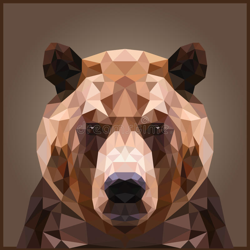 Bas poly ours illustration de vecteur