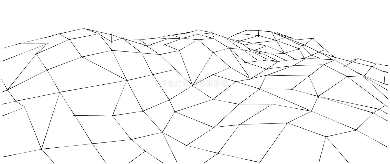 Bas-poly paysage géométrique de la montagne 3D abrégez le fond illustration de vecteur