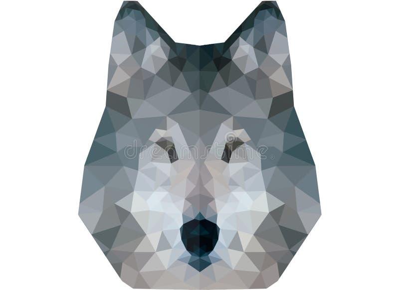 Bas poly portrait de loup images libres de droits