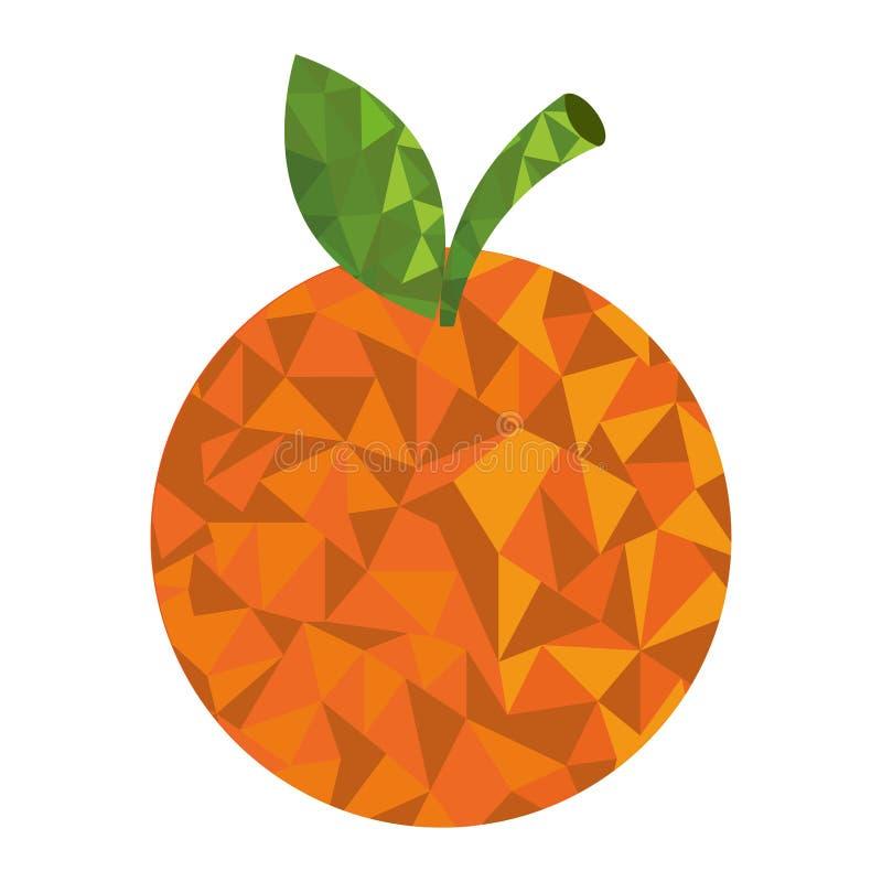 Bas poly style de fruit frais illustration libre de droits
