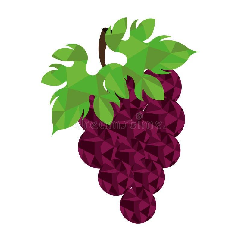 Bas poly style de fruit frais illustration de vecteur
