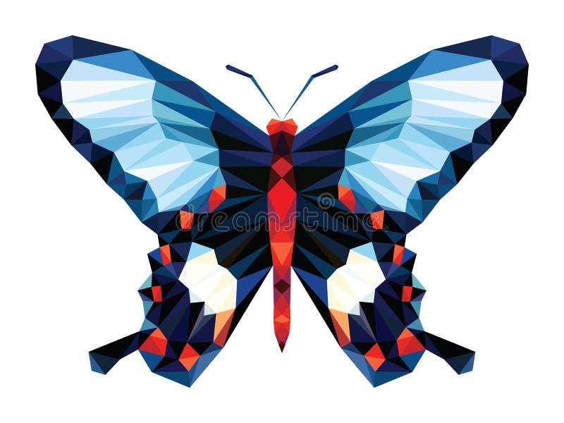 Download Bas Polygone Noir De Papillon Bleu Et Rouge De Point Sur Le Fond Blanc Illustration de Vecteur - Illustration du lumineux, facette: 76080765