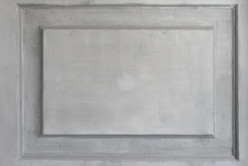 Bas-relevo branco luxuoso do projeto da parede com elemento do roccoco dos moldes do estuque Elementos do ornamento do torsel par imagens de stock