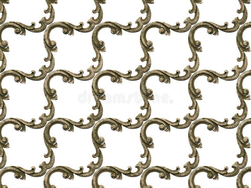 Bas-relevo de texturas sem emenda, consistindo em v?rios elementos de ornamento arquitet?nicos e de artigos decorativos em um con ilustração royalty free