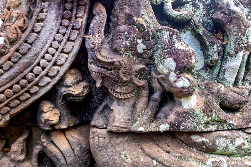Bas-relief à Prasat Bayon photos libres de droits