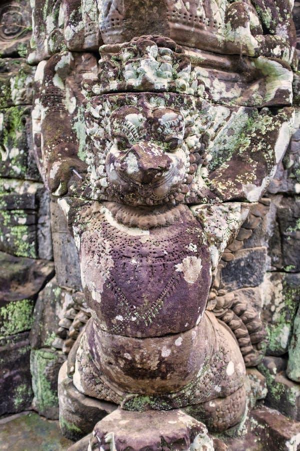 Bas-relief à Prasat Bayon photographie stock